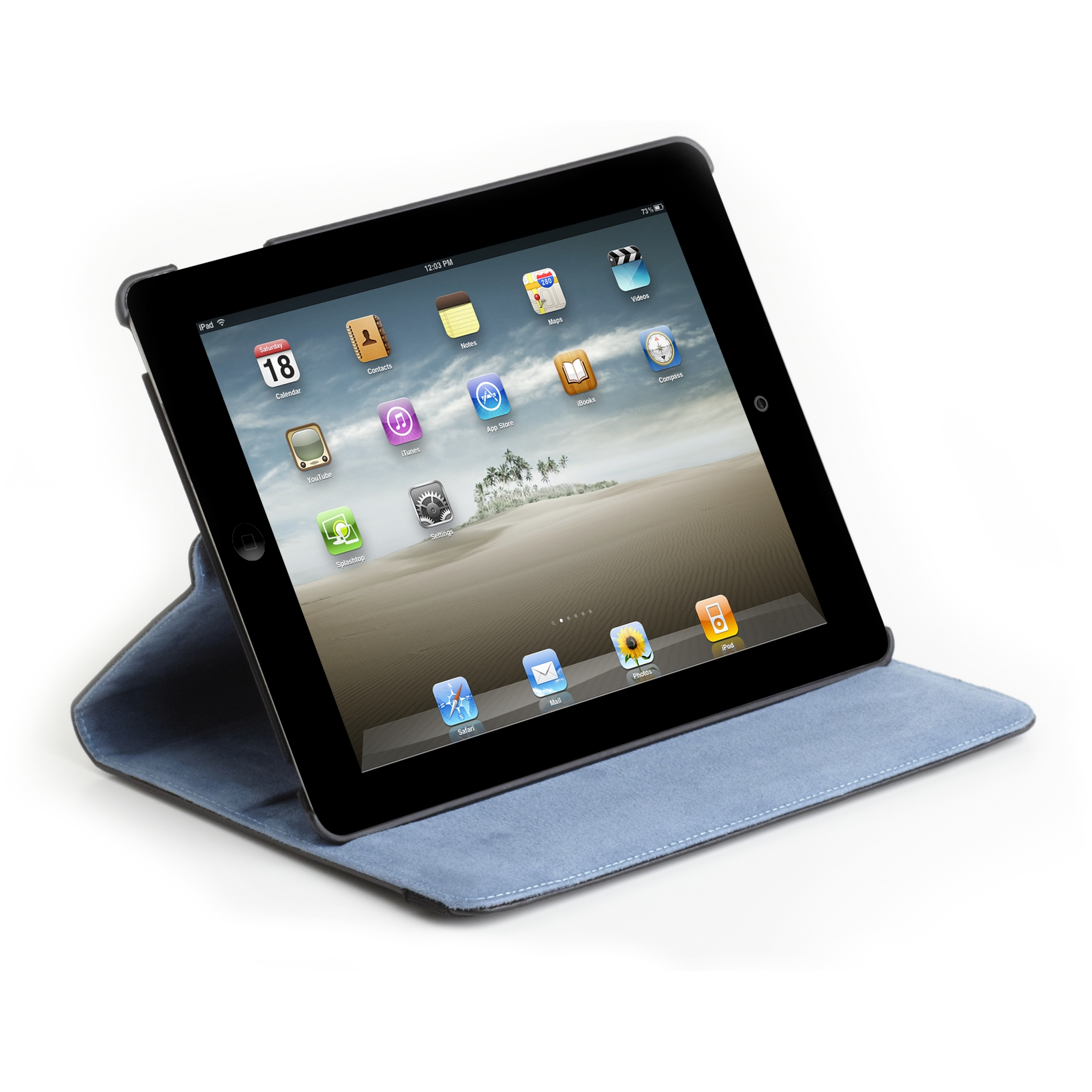 Versavu Case Amp Stand For Ipad 2 Thz045us Black Blue