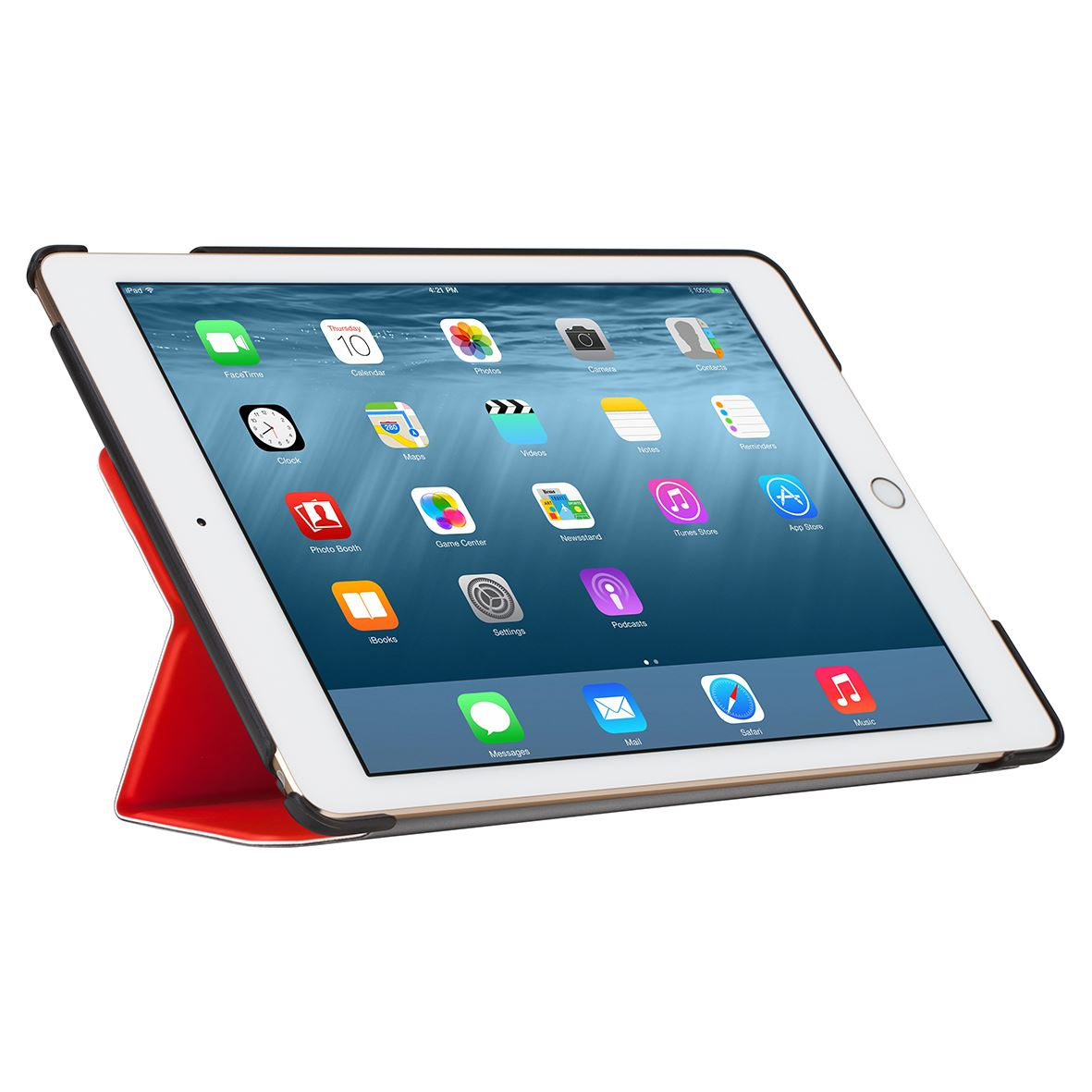 click in case smart cover for ipad air 2 red. Black Bedroom Furniture Sets. Home Design Ideas