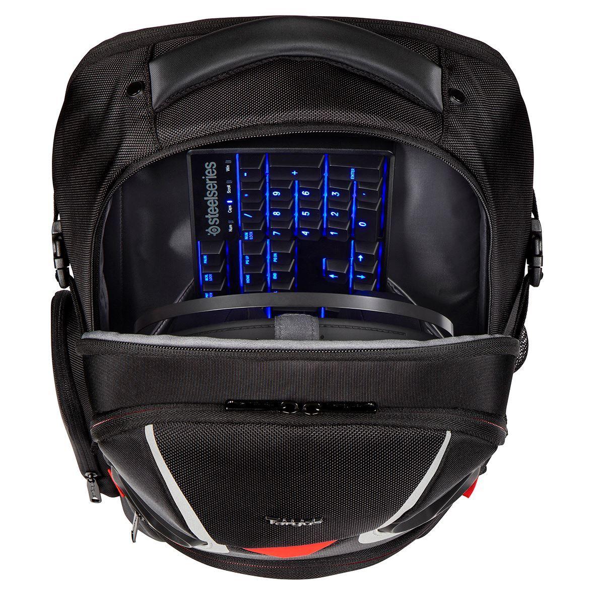 strike 17 3 gaming laptop backpack black red. Black Bedroom Furniture Sets. Home Design Ideas